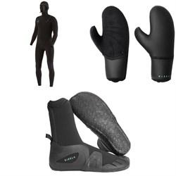 Vissla 7 Seas 6/5 Hooded Chest Zip Wetsuit + 7 Seas 7mm Wetsuit Mittens + 7 Seas 5mm Round Toe Wetsuit Boots