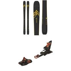 Salomon QST 92 Skis  + Marker Kingpin 13 Alpine Touring Ski Bindings