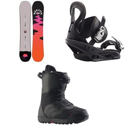 Burton Yeasayer Flying V Snowboard ​+ Citizen Snowboard Bindings ​+ Mint Boa Snowboard Boots - Women's 2021