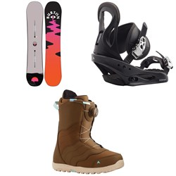 Burton Yeasayer Snowboard ​+ Citizen Snowboard Bindings ​+ Mint Boa Snowboard Boots - Women's 2021