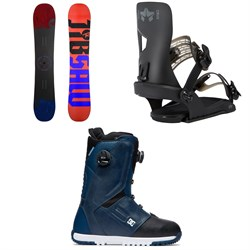 Rossignol Jibsaw Snowboard ​+ Rome Crux SE Snowboard Bindings ​+ DC Control Boa Snowboard Boots