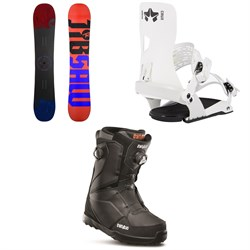 Rossignol Jibsaw Snowboard ​+ Rome Crux SE Snowboard Bindings ​+ thirtytwo Lashed Double Boa Snowboard Boots