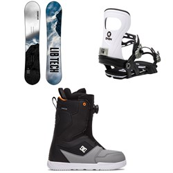 Lib Tech Cold Brew C2 Snowboard ​+ Bent Metal Joint Snowboard Bindings ​+ DC Scout Boa Snowboard Boots 2021