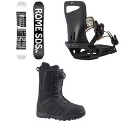 Rome Mechanic SE Snowboard  + Slice SE Snowboard Bindings  + Burton Moto Boa Snowboard Boots 2018