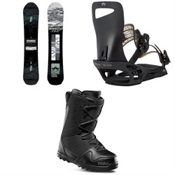 Rome Warden Snowboard + Slice SE Snowboard Bindings + thirtytwo Exit Snowboard Boots