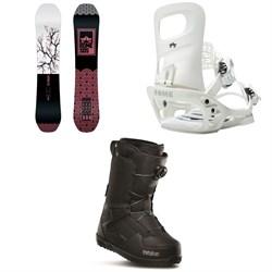Rome Royal Snowboard + Glade SE Snowboard Bindings + thirtytwo Shifty Boa Snowboard Boots - Women's