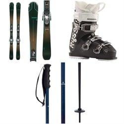Rossignol Experience 74 W Skis + Xpress 10 GW Bindings + Kelia 50 Ski Boots - Women's + evo Merge Ski Poles 2021