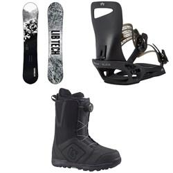 Lib Tech Cold Brew C2 Snowboard  + Rome Slice SE Snowboard Bindings  + Burton Moto Boa Snowboard Boots 2018