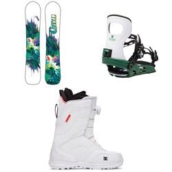 GNU Chromatic BTX Snowboard + Bent Metal Metta Snowboard Bindings + DC Search Boa Boots - Women's 2021