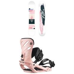 Salomon Lotus Snowboard + Rhythm Snowboard Bindings 2021