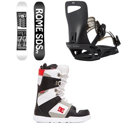 Rome Mechanic SE Snowboard + Slice SE Snowboard Bindings + DC Phase Snowboard Boots
