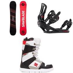 Rossignol Sawblade Snowboard 2020 + Rossignol Battle Snowboard Bindings  + DC Phase Snowboard Boots 2020