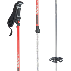 K2 x Geoff McFetridge Lockjaw Adjustable Ski Poles 2021