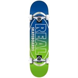 Real Golden Oval Outline 7.75 Skateboard Complete