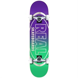 Real Golden Oval Outline 8.0 Skateboard Complete