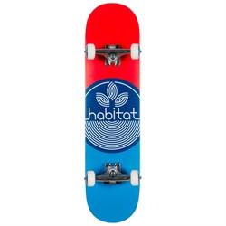 Habitat Leaf Dot Blue Complete 7.75 Skateboard Complete