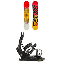 Rossignol Jibfluence Snowboard ​+ Flow Micron Youth Snowboard Bindings - Kids' 2021