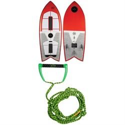 Ronix Koal Technora Powerfish+ Wakesurf Board 2019 + Proline x evo LGS 25 ft Surf Rope