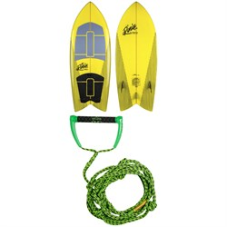 Ronix Koal Technora Powerfish​+ Wakesurf Board 2020 ​+ Proline x evo LGS 25 ft Surf Rope