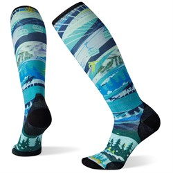 Smartwool Performance Ski Zero Cushion Skication Print OTC Socks - Women's