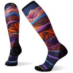 Smartwool Performance Ski Zero Cushion Mountain Print OTC Socks - Women's