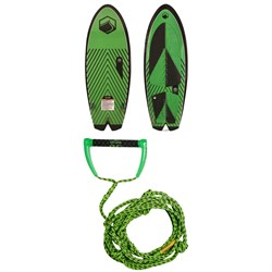 Liquid Force Rocket Wakesurf Board 2020 ​+ Proline x evo LGS 25 ft Surf Rope