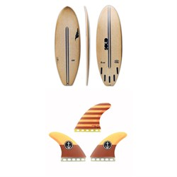 Solid Surf Co Lunch Break Surfboard ​+ Captain Fin CF Large Single Tab Tri Fin Set