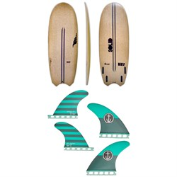 Solid Surf Co Bento Box Surfboard ​+ Captain Fin CF Medium Single Tab Quad Fin Set