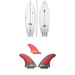 Lib Tech x Lost KA Swordfish Exacta Surfboard + Twin + Trailer Fin Set