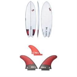 Lib Tech Funnelator Surfboard + Twin + Trailer Fin Set