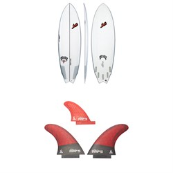Lib Tech x Lost Round Nose Fish Surfboard + Twin + Trailer Fin Set