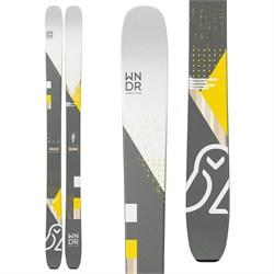 WNDR Alpine Vital 100 Reverse Skis + Marker Kingpin 10 Demo Bindings + Black Diamond Glidelite Skins  - Used