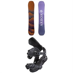 Arbor Swoon Rocker Snowboard ​+ Sequoia Snowboard Bindings - Women's 2022