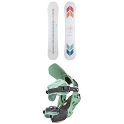 Arbor Poparazzi Rocker Snowboard + Sequoia Snowboard Bindings - Women's 2022