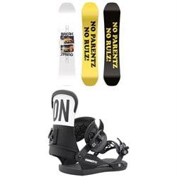 CAPiTA Spring Break Powder Twin Snowboard + Union Contact Pro Snowboard Bindings 2022