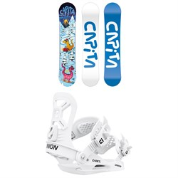 CAPiTA Micro Mini Snowboard ​+ Union Cadet XS Snowboard Bindings - Little Kids' 2022