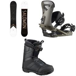 Salomon Sight Snowboard + Trigger Snowboard Bindings + Faction Boa Snowboard Boots 2021