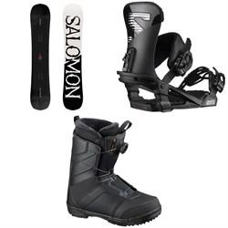 Salomon Craft Snowboard + Trigger Snowboard Bindings + Faction Boa Snowboard Boots