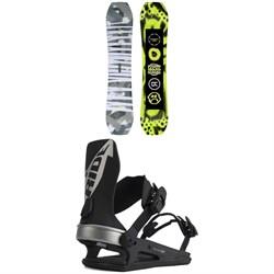 Ride Twinpig Snowboard + C-6 Snowboard Bindings 2022