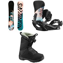 Salomon Oh Yeah Snowboard + Vendetta Snowboard Bindings + Pearl Boa Snowboard Boots - Women's