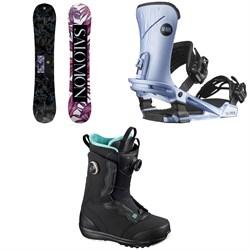 Salomon Wonder Snowboard + Nova Snowboard Bindings + Ivy Boa SJ Snowboard Boots - Women's