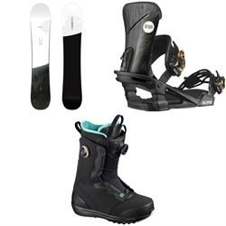 Salomon Bellevue Snowboard + Nova Snowboard Bindings + Ivy Boa SJ Snowboard Boots - Women's 2021