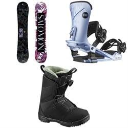 Salomon Wonder Snowboard + Nova Snowboard Bindings + Pearl Boa Snowboard Boots - Women's