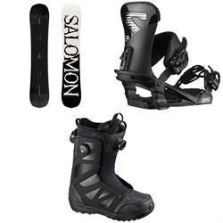 Salomon Craft Snowboard + Trigger Snowboard Bindings + Launch Boa SJ Snowboard Boots
