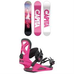 CAPiTA Jess Kimura Mini Snowboard + Union Cadet Snowboard Bindings - Kids' 2022