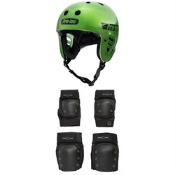 Pro-Tec The Full Cut Skateboard Helmet + Knee & Elbow Skateboard Pad Set