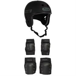 Pro-Tec Full Cut Certified Skateboard Helmet + Knee & Elbow Skateboard Pad Set