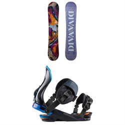 Rossignol Diva Lite Frame Snowboard + Diva Snowboard Bindings - Women's 2021