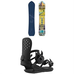 Dinosaurs Will Die Wizard Stick Snowboard + Union Strata Snowboard Bindings 2021