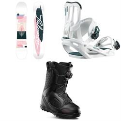 Salomon Lotus Snowboard  + Spell Snowboard Bindings  + thirtytwo STW Boa Snowboard Boots - Women's 2020
